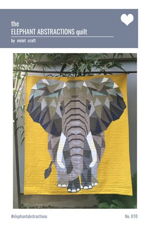 The Elephant abstractions quilt - Kit