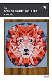 The Jungle abstractions quilt the Lion - Muster