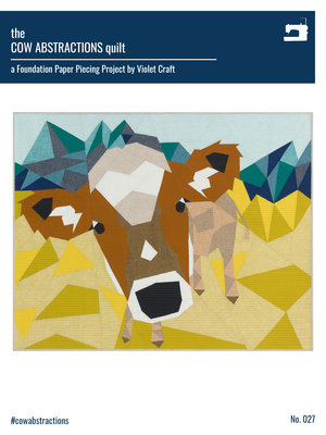 The Cow abstractions quilt - pattern