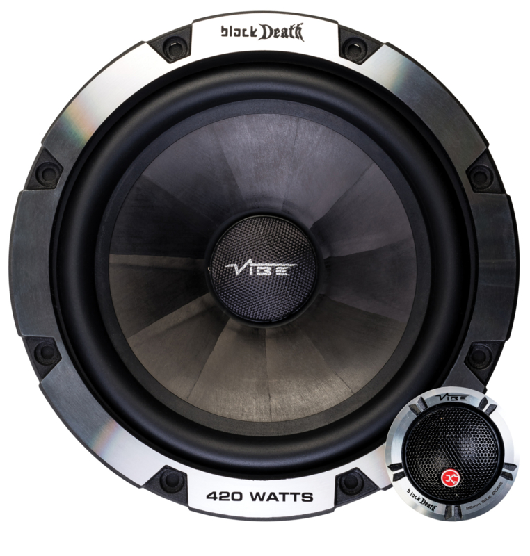 Vibe BlackDeath 16,5 cm.  2 way composet autospeakers
