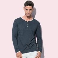 ST9860 Stedman Luke Long Sleeve Henley T-Shirt Men