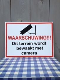 sticker camera 40 x 30 cm op plexi bord