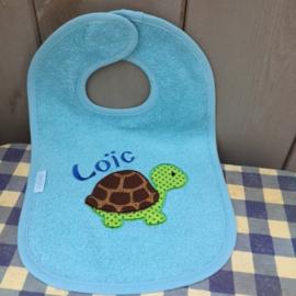 uni line licht blauw schildpad