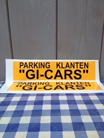parking sticker 30 x 7 cm