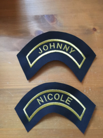 badge halfrond  12-6 cm