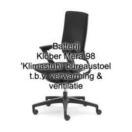 Batterij Klöber Mera 98 'Klimastuhl' bureaustoel t.b.v. verwarming & ventilatie