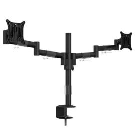Easy Stand Fox Officeline Monitorarm dual II zwart met bladklem