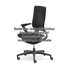 Batterij en lader/snoer Klöber Mera 98 'Klimastuhl' bureaustoel t.b.v. verwarming & ventilatie