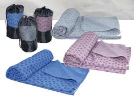 Tunturi Silicone Yoga handdoek met anti slip met draagtas