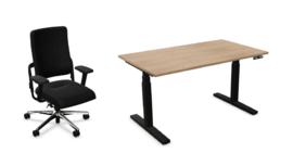 Gasunie pakket: bureaustoel en zit/sta bureau