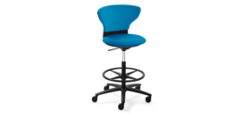 Sedus Turn around high desk chair, zwart