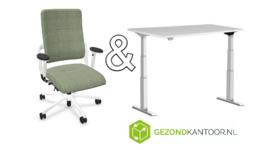 Pakket: bureaustoel Home Edition en zit/sta bureau