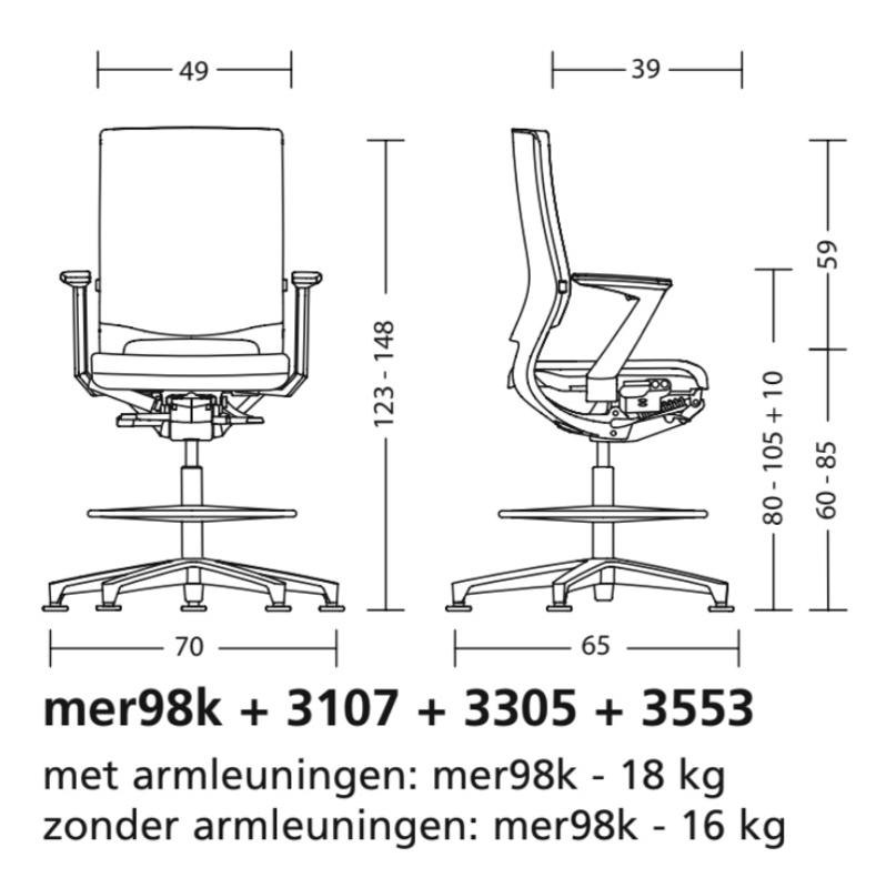Bureaustoel Met Verwarming.Klober Mera 98 Klimastuhl Bureaustoel Met Verwarming Ventilatie