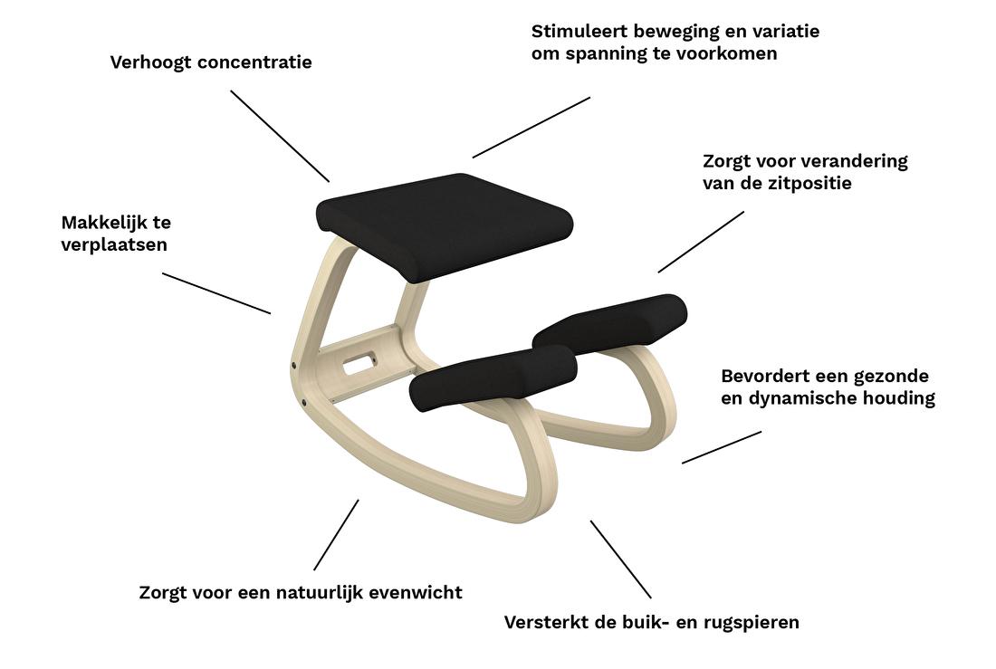 Stokke Balans Bureaustoel.De Oplossing Tegen Nekpijn En Lage Rugpijn