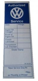 Service sticker