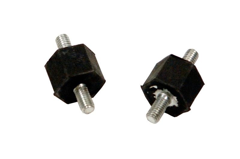 Luchtfilter/benzinepomp ophangrubber 2x M6, per 1 stuk