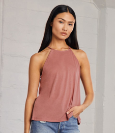 BELLA LADIES FLOWY  HIGH NECK TANKTOP