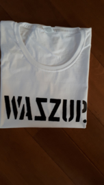 SALE T-Shirt Wazzup | Maat XL | Wit