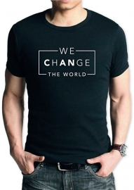 T-shirt We (can) Change the world | heren