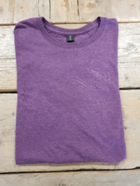 T-shirt - Triblend - Heather Aubergine - Maat M