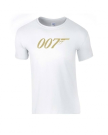 T-shirt James Bond II (opdruk goud)