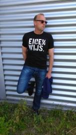 T-shirt EIGENWIJS (blok)  | heren