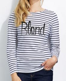 Streep T-shirt Blond
