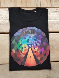 SALE T-Shirt Heren Wereldbol | Maat M | zwart