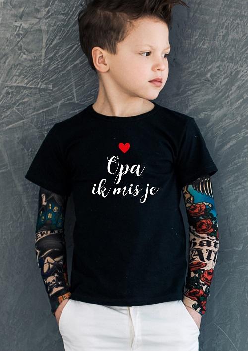 T-shirt Opa ik mis je (jongen)