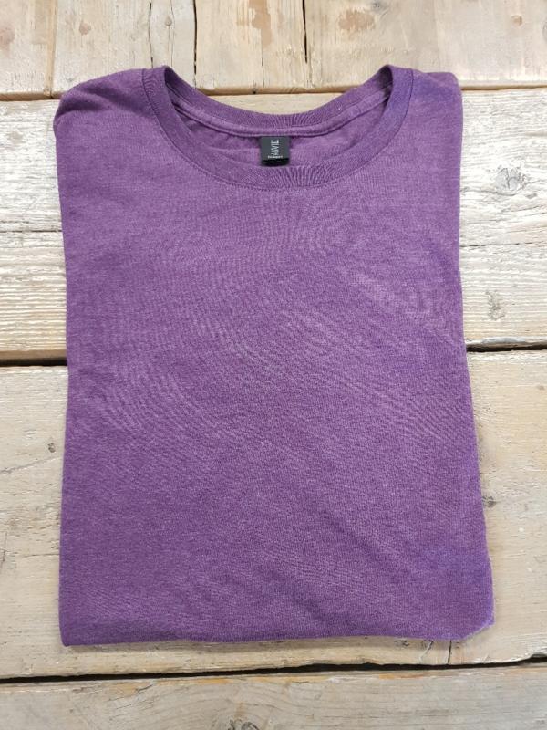 T-shirt - Triblend - Heather Aubergine - Maat M