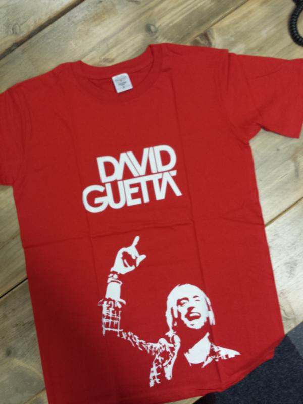 SALE T-Shirt heren D. Guetta | Maat M | rood