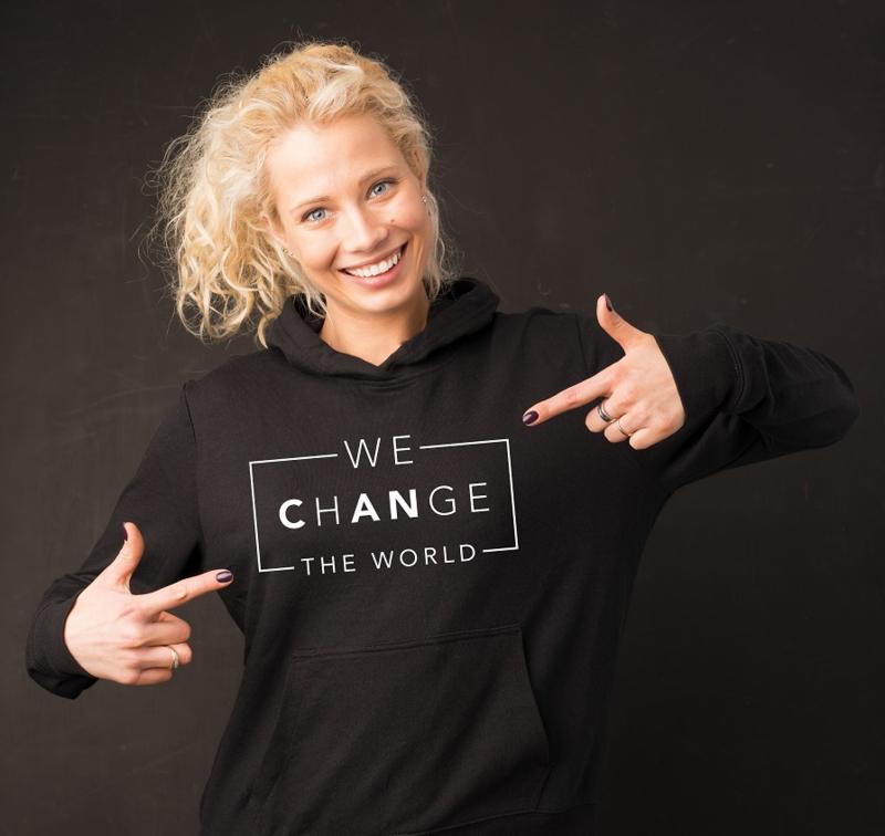 Hoodie Change the world