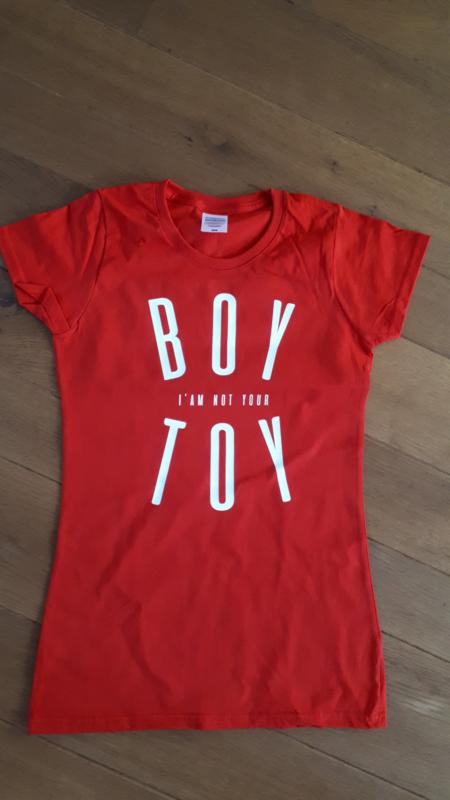 SALE T-Shirt Boy Toy | Maat XS | Rood