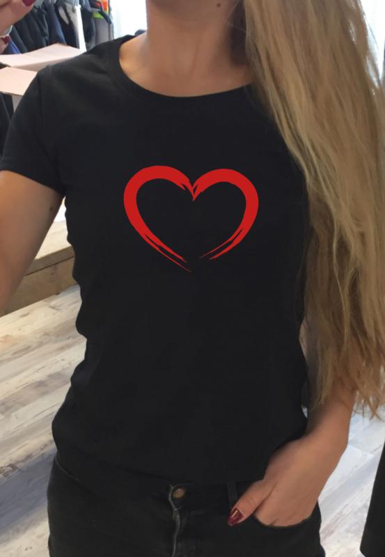 T-shirt Hart (dik)