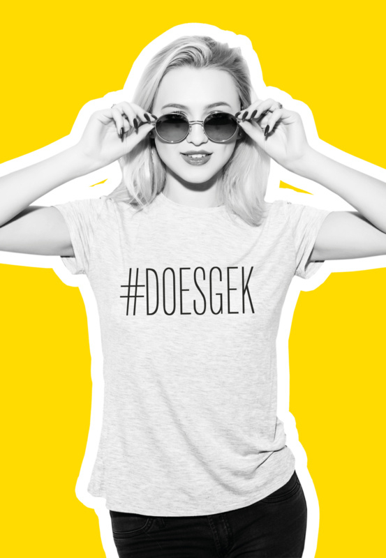 T-shirt #DOESGEK