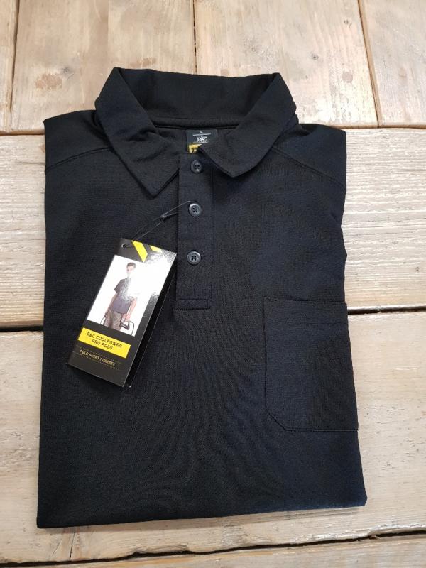 Work Poloshirt B&C Coolpower Pro - Zwart - Maat L