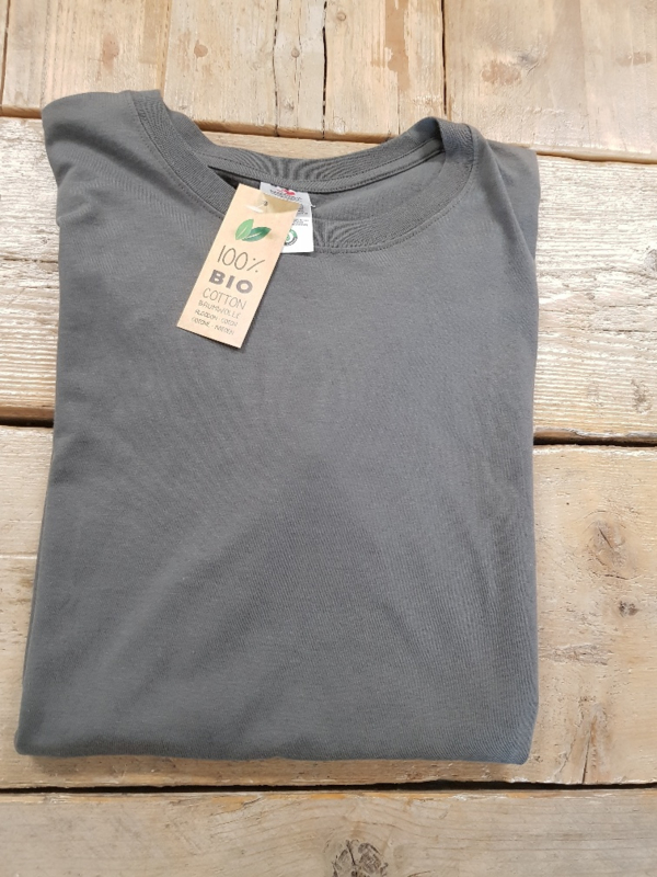 T-shirt - Organic - Real Grey- Maat L
