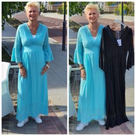 Lange jurk met kant