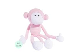 KNUFFEL - aap lichtroze
