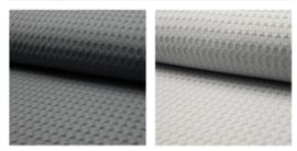BOXKLEED -  Zwart/witte wolkjes met kleur wafelstof naar keuze