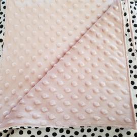 BOXKLEED- Zwart witte dots met kleur minky stof naar keuze