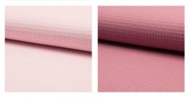 LEDIKANTDEKEN- Oud roze 3D met wafelstof naar keuze