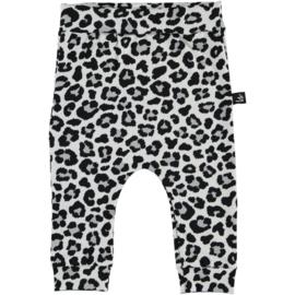 BROEKJE- Baggy Leopard wit