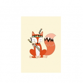 A4 POSTER - Indian Fox