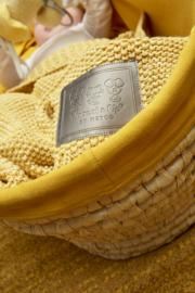 Woezel & Pip ledikantdeken- Pip geel