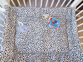BOXKLEED- Zwart/wit Dalmatiër met zwarte wafelstof
