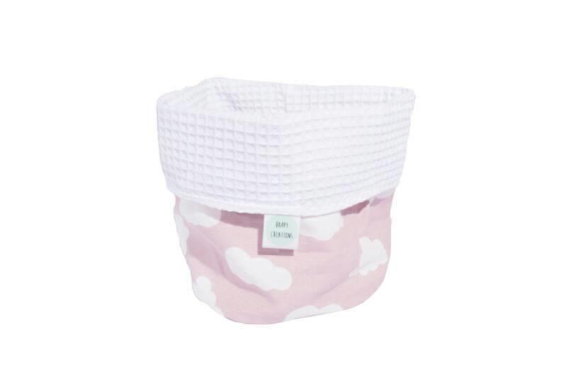 COMMODEMANDJE - Wolken oud roze met witte wafel