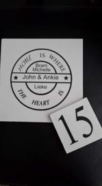 Naambord met huis nummer
