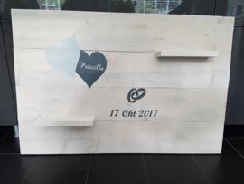 Steigerhout trouwbord 80 x 120