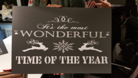 Kerstbord1   40 x 60